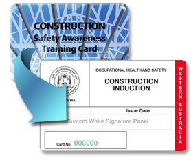 Blue Construction Card 42